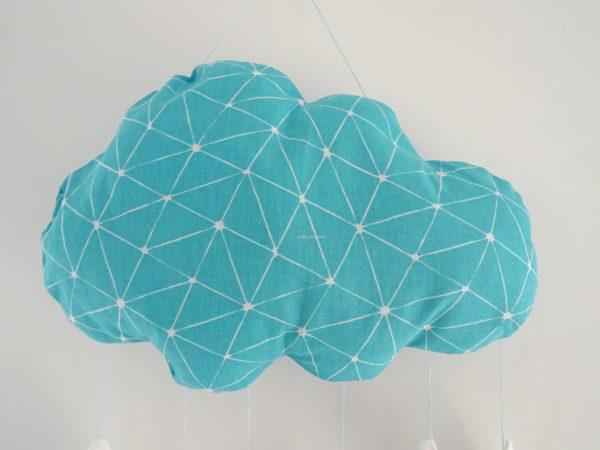 Coussin nuage prénom turquoise par Little Cousette zoom