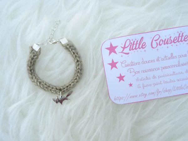 bracelet tricotin breloque renardeau