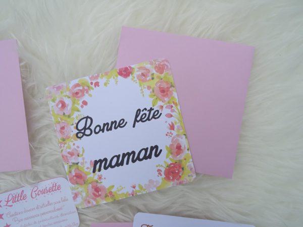 box maman pour la fete des meres carte modele fleuri