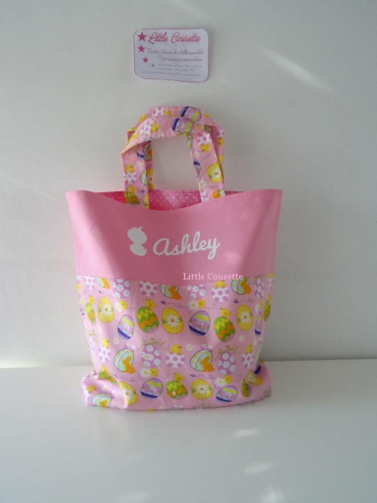 Mini Tote Bag sac plat pour chasse aux oeufs de Pâques