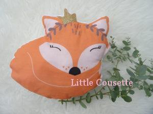 Coussin musical renard