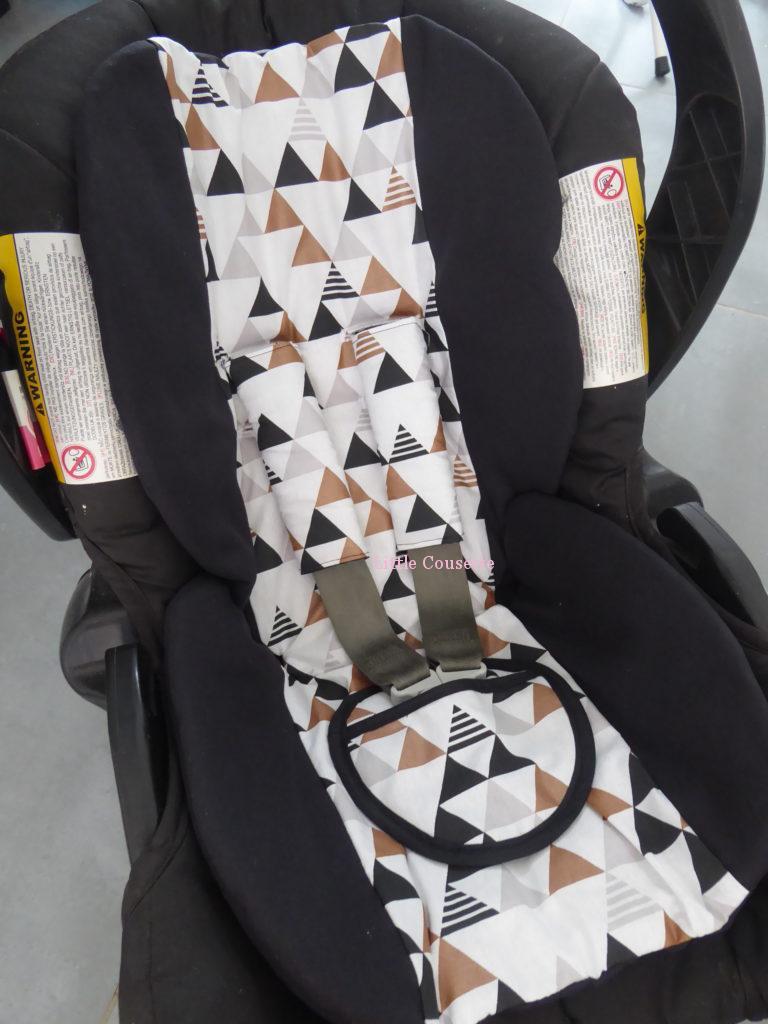 Kit confort cosy-Assise cosy et protège-sangles-tissu de votre choix