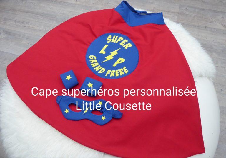 Cape et masque de super héros-déguisement enfants