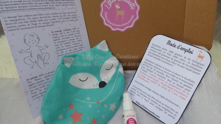 Box naissance produits certifiés bio et Oekotex- Coliques du nourrisson