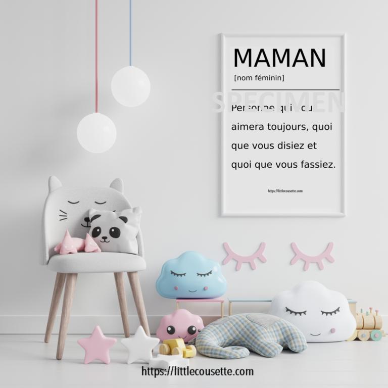 Citation inspirante pour la chambre de bébé: une affiche à télécharger gratuitement